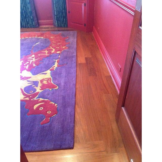"10.5 x 15' Shivhon area rug, ""Ryu"" design in a custom colorway. Rug field color is far more purple than main photo..."