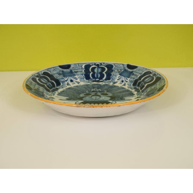 Blue Peacock Plate For Sale - Image 8 of 11