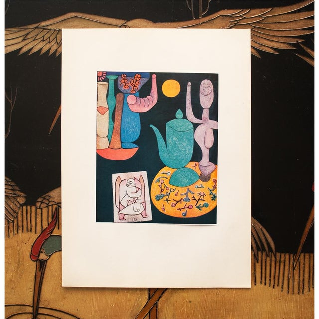 Cubism 1955 Paul Klee, Still Life First Edition Lithograph For Sale - Image 3 of 8
