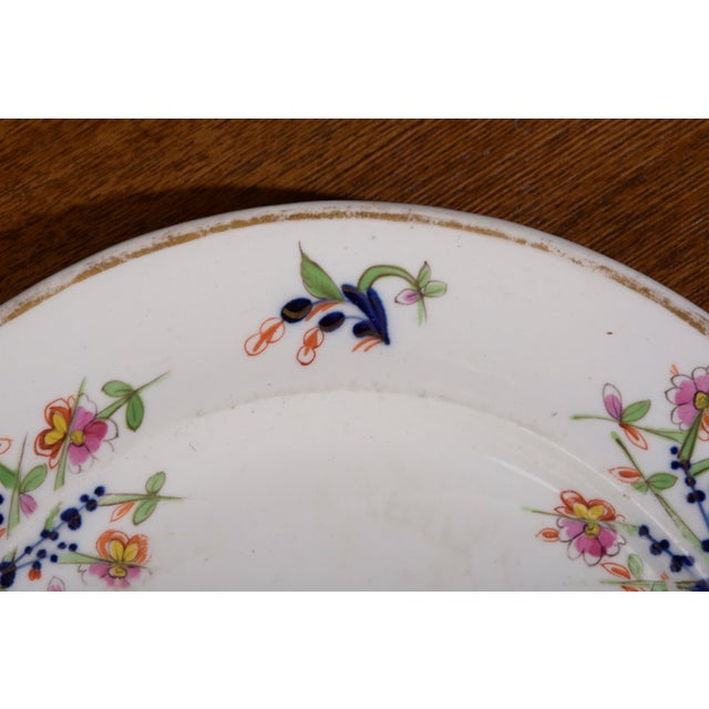 18th Century Staffordshire Soft Paste Floral Plates - Set of 12 For Sale - Image 4 of 13