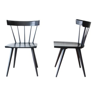 Set of Eight Paul McCobb Ebonized Planner Group Dining Chairs For Sale