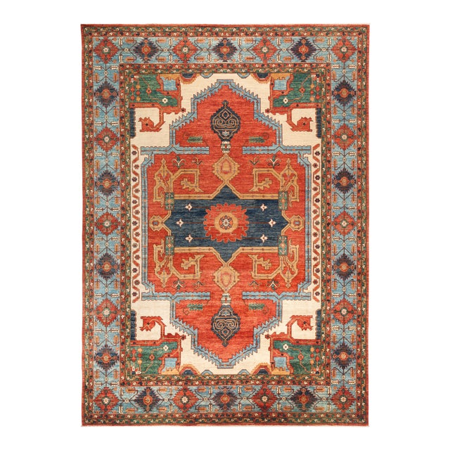 "Serapi Hand Knotted Area Rug - 9' 10"" X 13' 10"" - Image 1 of 4"