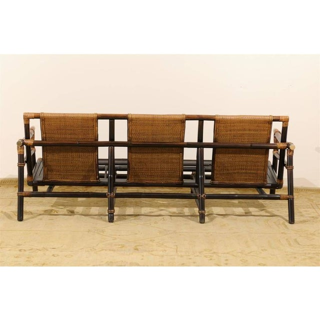 Rare Restored Sofa by John Wisner for Ficks Reed- Four Available For Sale In Atlanta - Image 6 of 11