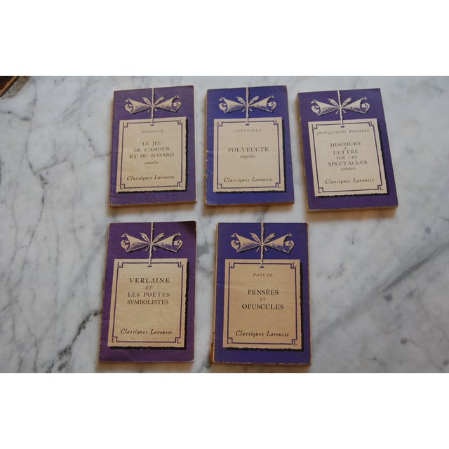 Paris Picks! Found at the Marche d'Aligre Market in Paris! Regal petite purple French paperbacks to read or for decor. All...