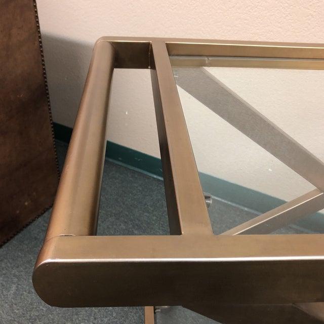 Metal Restoration Hardware Milo Bar Cart For Sale - Image 7 of 11