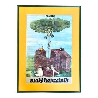 """1977 Czech """"Malý Kouzelník"""" Movie Poster For Sale"""