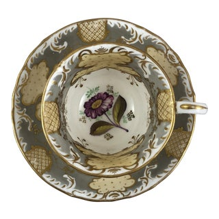 1900s Traditional Teacup and Saucer - 2 Pieces For Sale