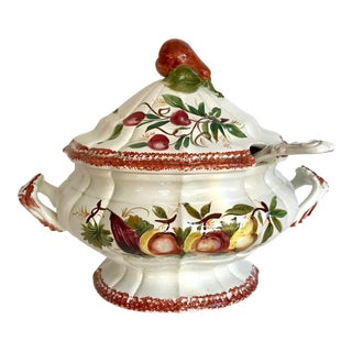 Italian Hand-Painted Tureen For Sale