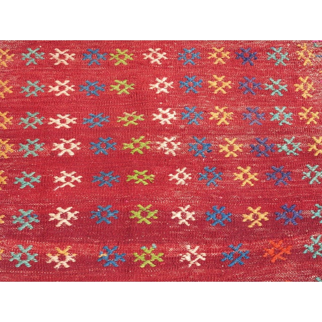 Vintage Turkish Kilim Rug - 3′ × 3′8″ - Image 5 of 8