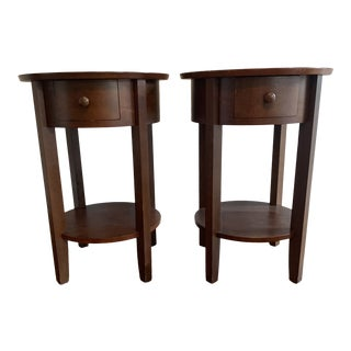 Pottery Barn Solid Wood Nightstands - A Pair For Sale