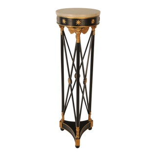 French Angel Pedestal With Marble Top