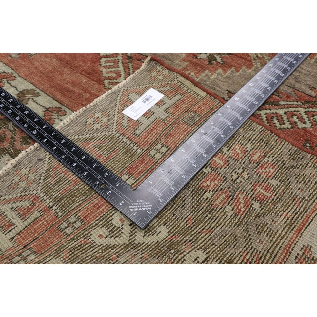 Mid 20th Century Vintage Turkish Oushak Runner - 3′6″ × 13′1″ For Sale - Image 5 of 10