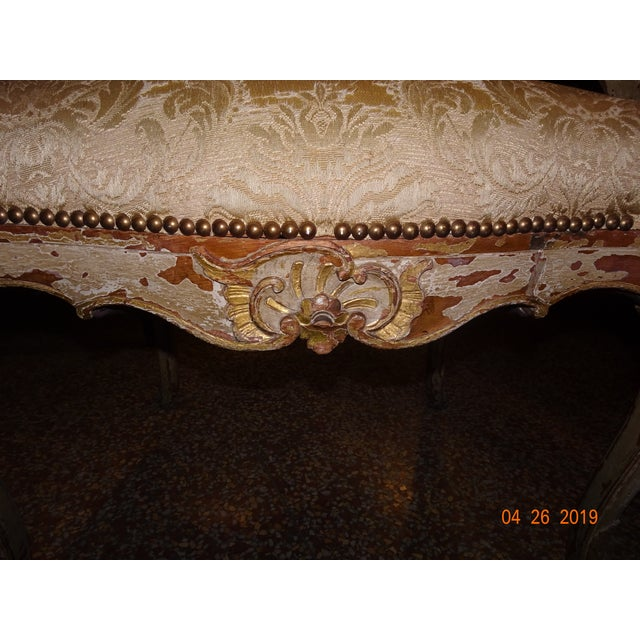 Very wide and comfortable pair of Italian armchairs in the style of Louis XV. Shells and leaf motif. Very sturdy but will...