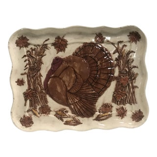Hand Painted Turkey Platter