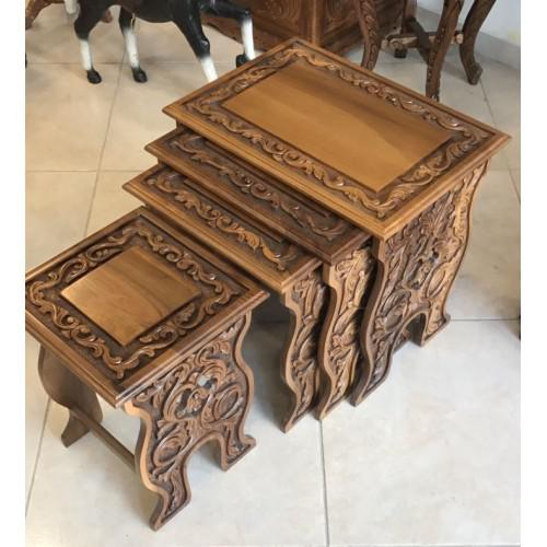 Antique Turkish Walnut Nesting Tables This product is craved by a professional sculptor and for sure you will like the...