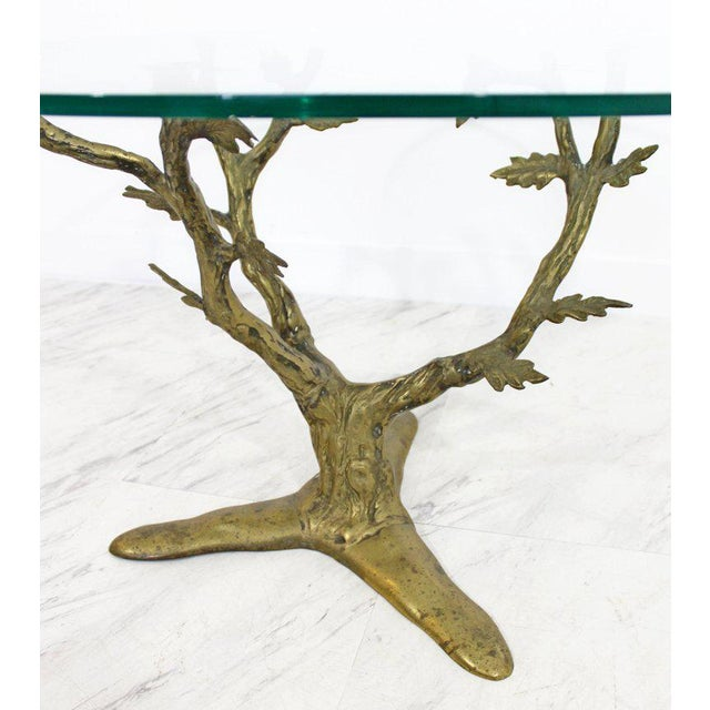 Mid 20th Century Modern Art Deco Cast Bronze Tree Limb Side End Table For Sale - Image 5 of 6