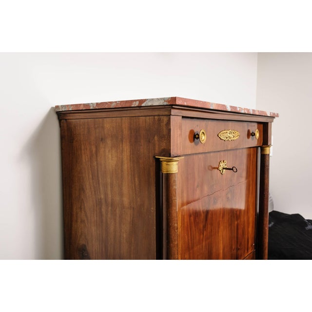 SALE - was $6,500 This Secretaire a Abbant is from the French Empire period and was created by the workroom of Ipolito...