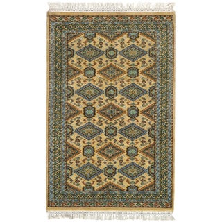 Contemporary Pasargad Ivory Bokhara Rug - 2'7'' X 4' For Sale
