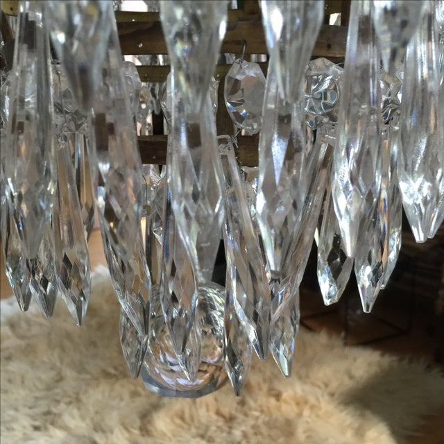 Gold Acanthus Drop Crystal Chandelier For Sale - Image 8 of 9