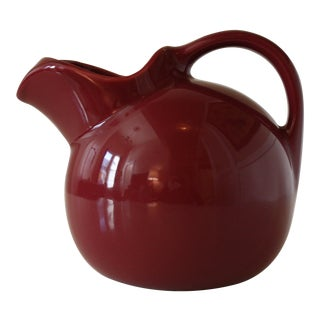 Mid-Century Fiestaware Style Maroon Pitcher For Sale
