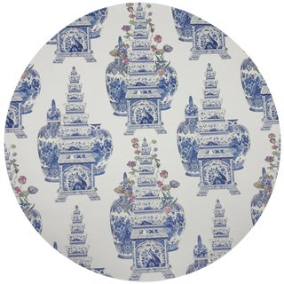 """Nicolette Mayer Royal Delft Masterpieces Tulips White 16"""" Round Pebble Placemats, Set of 4 For Sale"""