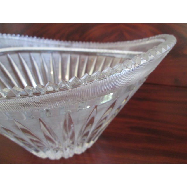 Vintage Cut Crystal Centerpiece Bowl - Image 6 of 7