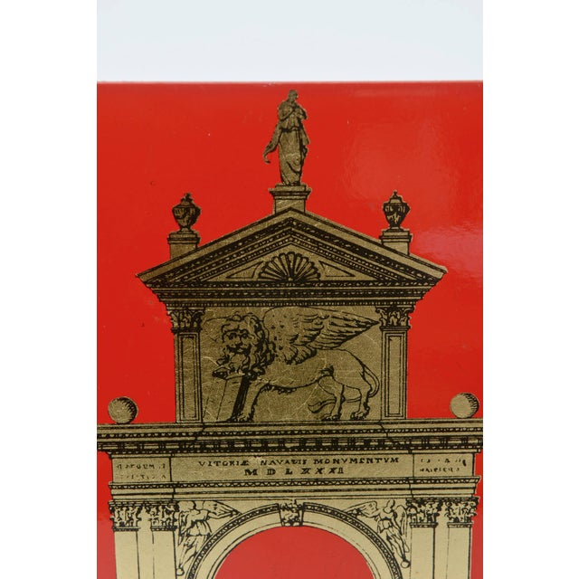 """Pair of Fornasetti Roman Classical """"Porta"""" Metal Bookends For Sale - Image 9 of 9"""