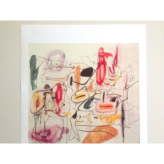 Vintage 1981 Arshile Gorky Original Abstract Lithograph Print Exhibition Poster - Image 3 of 9