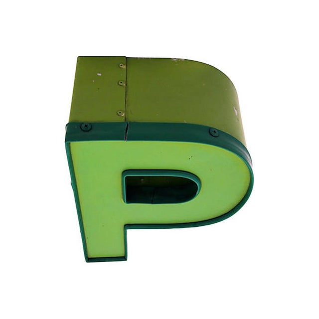 1970s Vintage Letter P For Sale - Image 4 of 7
