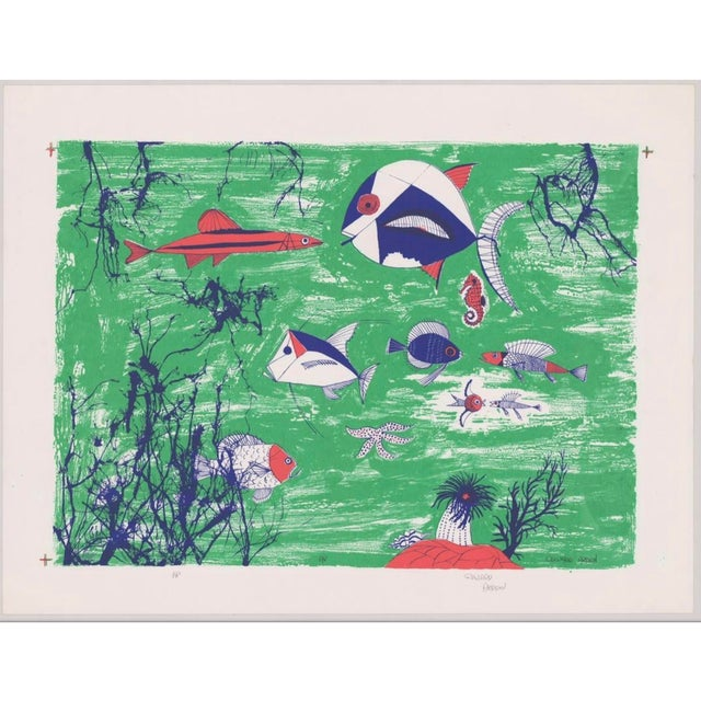 1990s Edward Arden Under the Sea Lithograph For Sale In Greenville, SC - Image 6 of 7