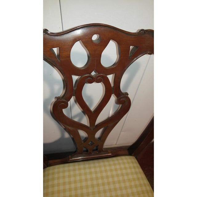 """Brown 1990s English Chippendale Dining Chairs by """"Restall, Brown & Clennell Ltd"""" - Set of 12 For Sale - Image 8 of 13"""