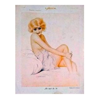 """G. Cirmeuse 1926 """"Au Ssaut Du Lit"""" Le Sourire Print"""