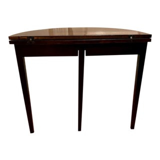 1920's Federal Inlaid Mahogany Demi-Lune Table For Sale
