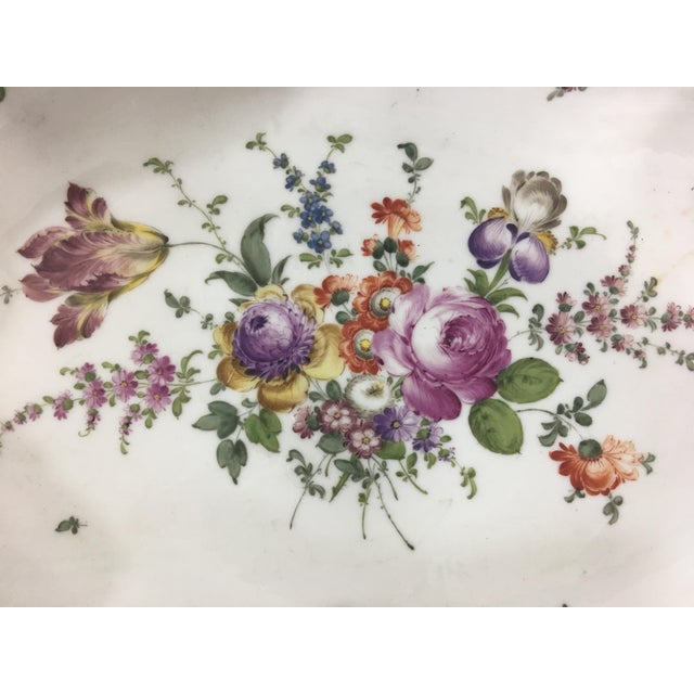 French Provincial 19th Century Limoge Hand-Painted Centerpiece For Sale - Image 3 of 10