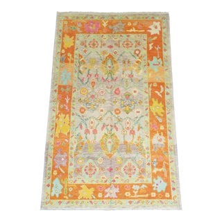 Contemporary Turkish Oushak Anatolian Rug For Sale