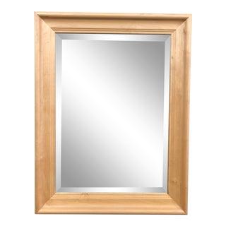 Contemporary Maple Framed Wall Mirror