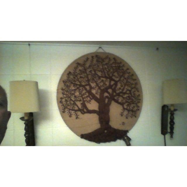 """Original """"Tree of Life"""" Fiber Art by Dan Freedman - Image 4 of 8"""