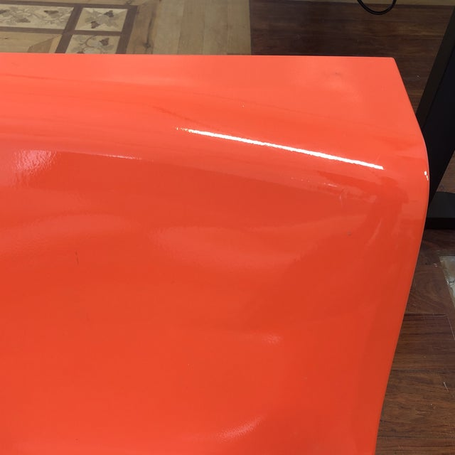 Kartell Piero Lissoni Orange Form Lounge Chairs - a Pair For Sale In San Francisco - Image 6 of 10