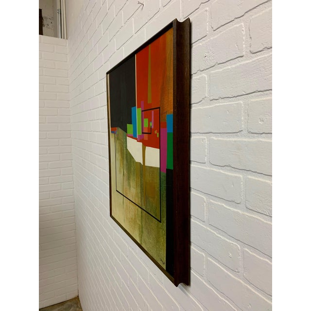 Modernist Geometric Painting, 1971 For Sale - Image 9 of 13