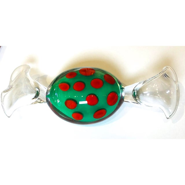 1990s 1990s Studio Ahus Swedish Art Glass Candy For Sale - Image 5 of 5