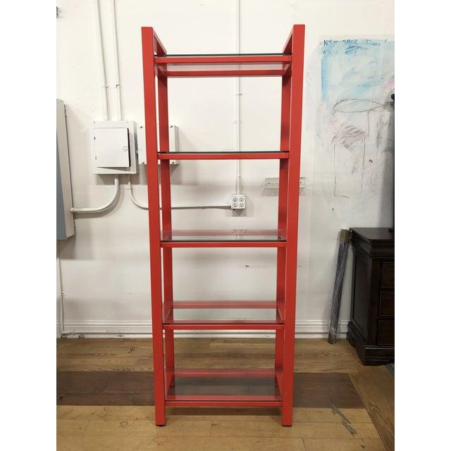 Orange Crate & Barrel Pilsen Paprika Bookcase For Sale - Image 8 of 8