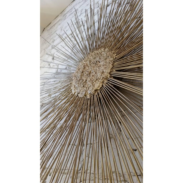 Mid-Century Modern Curtis Jere Style Starburst Wall Sculpture by Bruce & William Friedle For Sale - Image 3 of 8