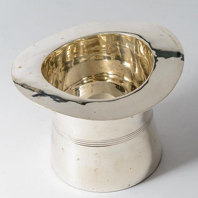 Silver Plated Top Hat Champagne Bucket by Godinger For Sale In West Palm - Image 6 of 12