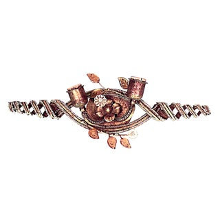 French Open Swirl Design Wall Sconce Attributed to Baguès For Sale