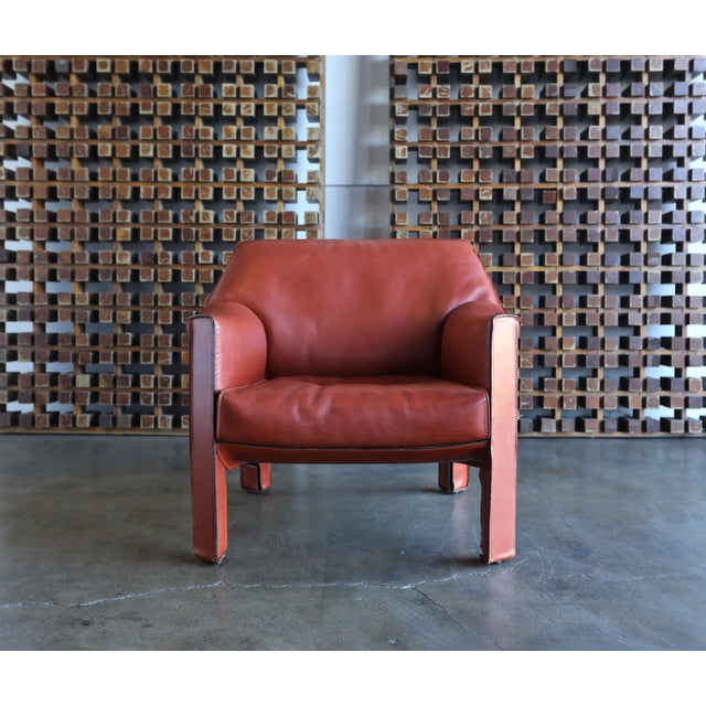 Mario Bellini for Cassina Large Cab Lounge Chairs - a Pair For Sale - Image 9 of 13