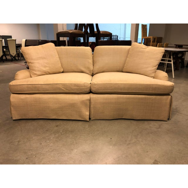 Fabric Century Furniture English Arm Sofa in Honey Silk For Sale - Image 7 of 7