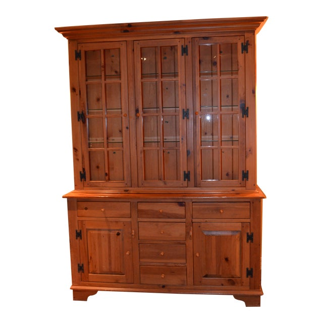 Ethan Allen Country Craftsman Lighted China Cabinet - Image 1 of 5