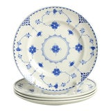 Image of Johnson Brothers Denmark Blue Salad Plate - Set of 4 For Sale