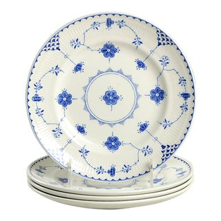 Johnson Brothers Denmark Blue Salad Plate - Set of 4 For Sale