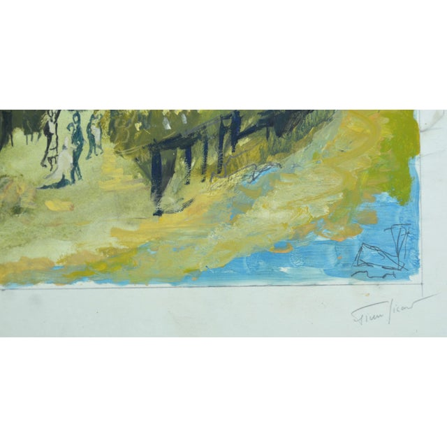 Mid-Century Modern Pierre Sicard Painting For Sale - Image 3 of 4